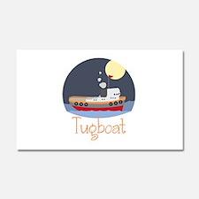 Tugboat Car Magnet 20 x 12