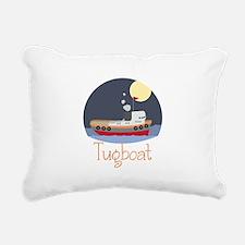 Tugboat Rectangular Canvas Pillow