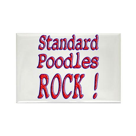Standard Poodles Rectangle Magnet (10 pack)