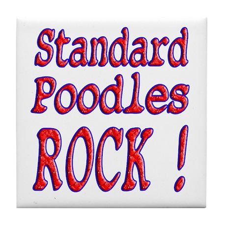 Standard Poodles Tile Coaster