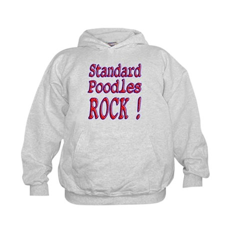 Standard Poodles Kids Hoodie