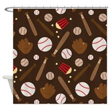 Baseball Sports Fan Shower Curtain