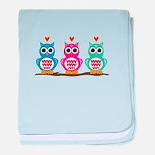 Love Owls baby blanket