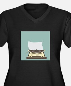 Typewriter Plus Size T-Shirt
