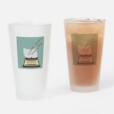 Clickity Clackity Drinking Glass