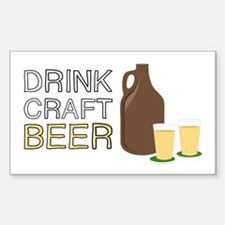 Drink Craft Beer Decal