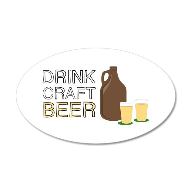 Drink craft beer wall decal by embroidery9 for Take craft beer back