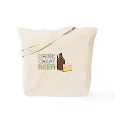 Drink Craft Beer Tote Bag