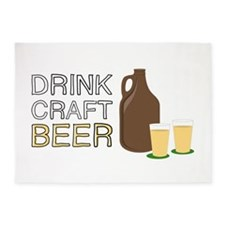 Drink Craft Beer 5'x7'Area Rug