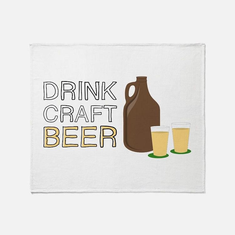 Drink Craft Beer Throw Blanket