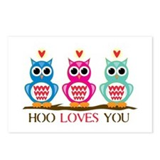 Hoo Loves You Postcards (Package of 8)