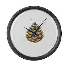 Pinecone Large Wall Clock