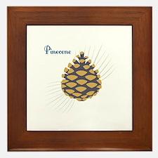 Pinecone Framed Tile