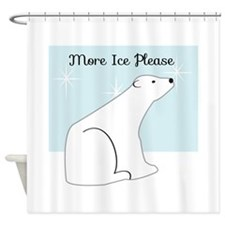 More Ice Please Shower Curtain