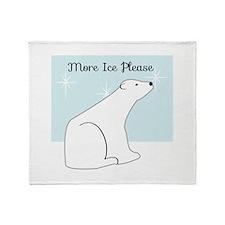 More Ice Please Throw Blanket
