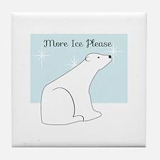 More Ice Please Tile Coaster