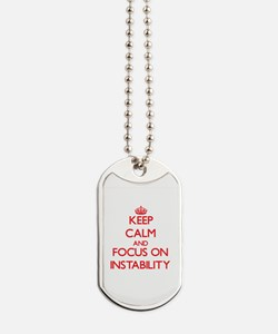Unique Keep calm anxiety Dog Tags