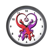 Gecko Heart Wall Clock
