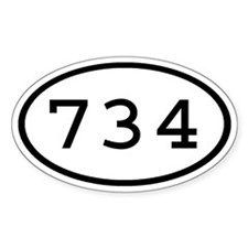 734 Oval Oval Decal