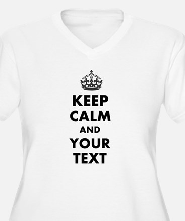 Personalized Keep Calm Plus Size T-Shirt