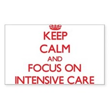 Keep Calm and focus on Intensive Care Decal