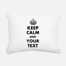 Personalized Keep Calm Rectangular Canvas Pillow