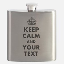 Personalized Keep Calm Flask