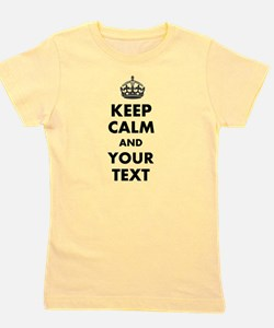 Personalized Keep Calm Girl's Tee