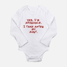 Cute Cute uncle Long Sleeve Infant Bodysuit