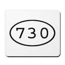 730 Oval Mousepad