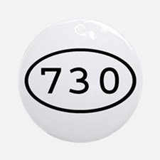 730 Oval Ornament (Round)