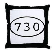 730 Oval Throw Pillow