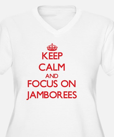 Keep Calm and focus on Jamborees Plus Size T-Shirt