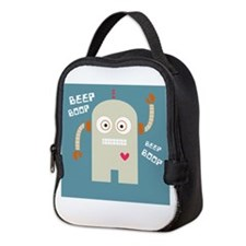 Beep Boop Neoprene Lunch Bag