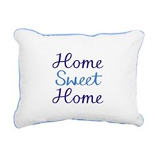 Home Sweet Script Cyan & Rectangular Canvas Pi
