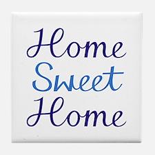 Home Sweet Script Cyan & Blue Coaste Tile Coas