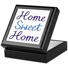 Home Sweet Home Script Cyan & Blue Keepsake Bo