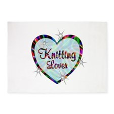 Knitting Lover 5'x7'Area Rug
