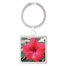 Cute Spring into fall Square Keychain