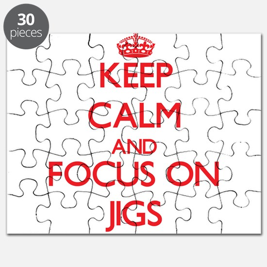 Funny Keep calm and jig on Puzzle