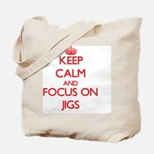 Funny Keep calm and jig on Tote Bag
