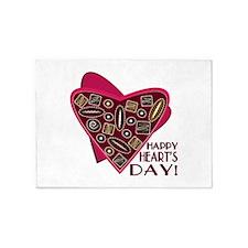 Happy Hearts Day 5'x7'Area Rug