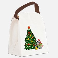 Christmas Mouse Canvas Lunch Bag