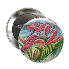 Abstract Indian Paintbrush Button