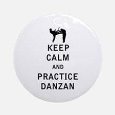 Keep Calm and Practice Danzan Ornament (Round)