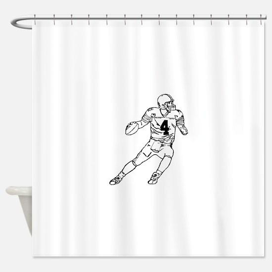 Quarterback Shower Curtain