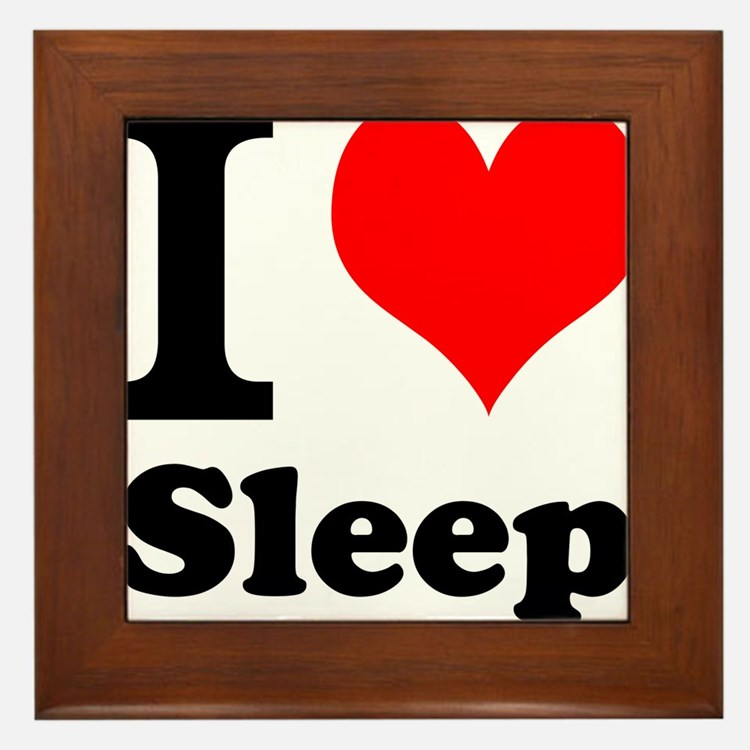 I Love Sleep Framed Tile
