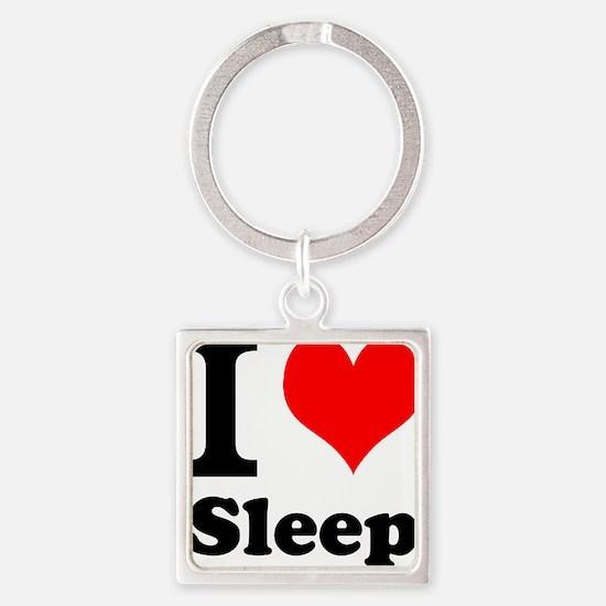 I Love Sleep Keychains