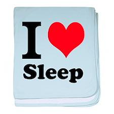 I Love Sleep baby blanket