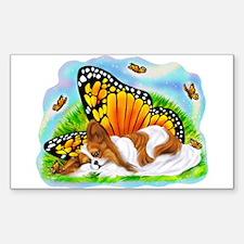Papillon Mystical Monarch Rectangle Decal